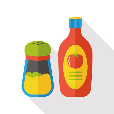 ketchup: sauce ketchup flat icon