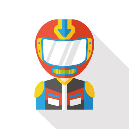 racer occupation character flat icon