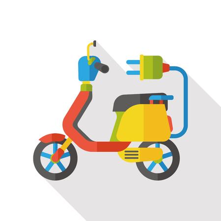 symbol of pharmacy: energy motorcycle flat icon