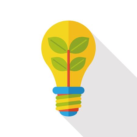 halogen: energy bulb flat icon