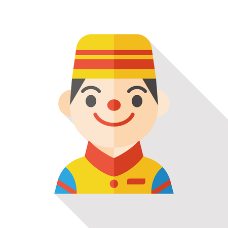 bellman: hotel bellman flat icon Illustration