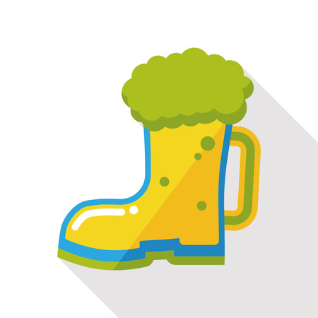 draughts: beer drink flat icon Illustration