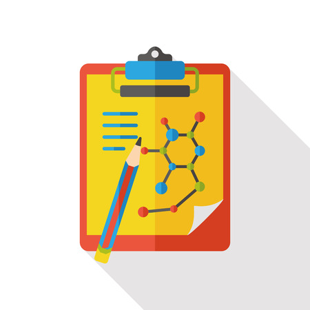medical record: science files flat icon Illustration