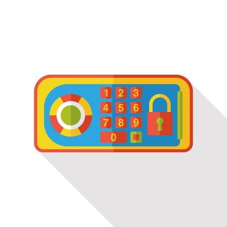 deposit: Safety Deposit Box flat icon Illustration