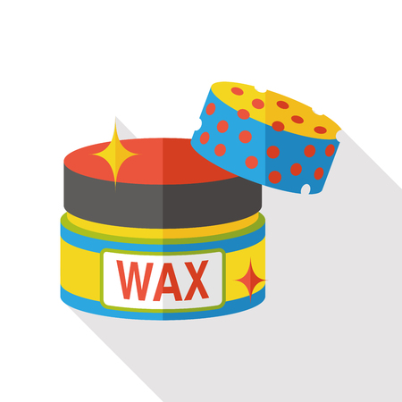 cleaning wax flat icon Vectores