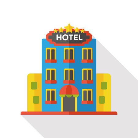 building hotel flat icon