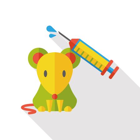 laboratory: Experiments rat flat icon Illustration