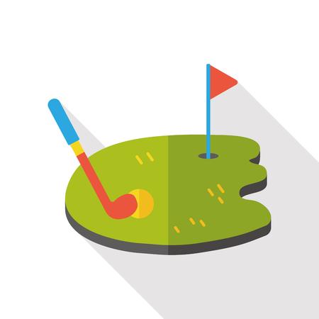 sport club: golf game flat icon Illustration
