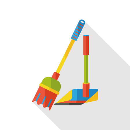 tidy: cleaning Broom flat icon