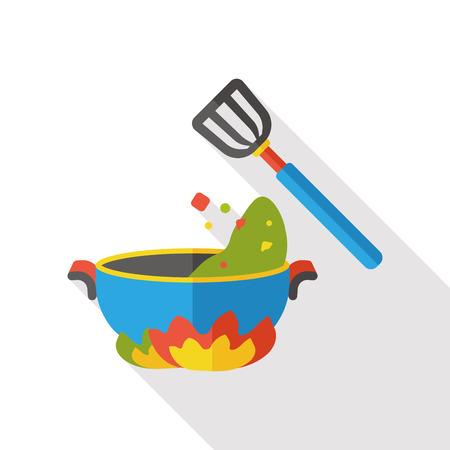 chef knife: dinner food flat icon Illustration