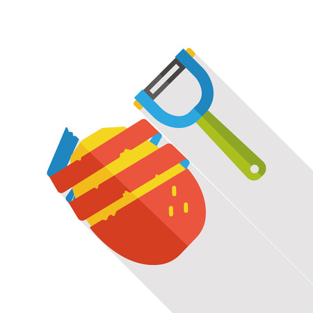 starch: food potato flat icon Illustration