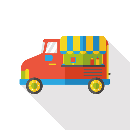 supermarket trolley: food cart flat icon