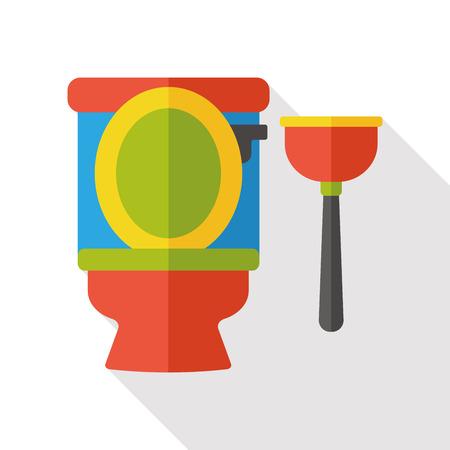 plunger: Toilet plunger flat icon