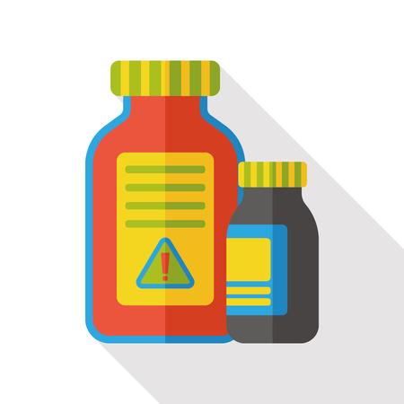 yellow beware: toxic poison flat icon