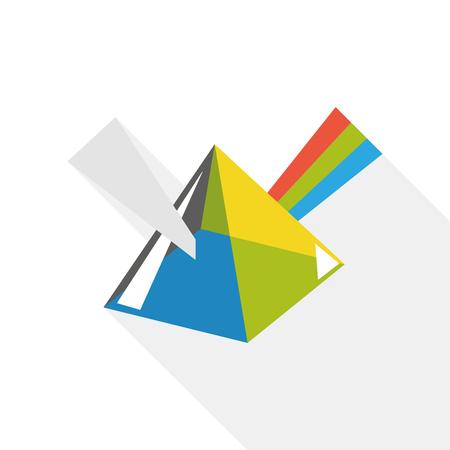 chromatograph: Dispersive prism flat icon
