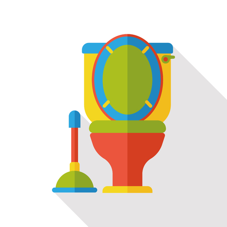 bidet: bathroom toilet flat icon Illustration