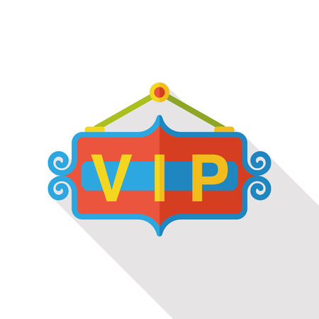 celebrities: vip board flat icon Illustration