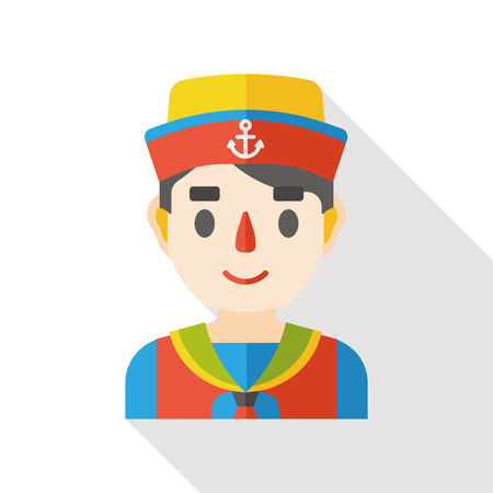 occupation: sailor occupation character flat icon