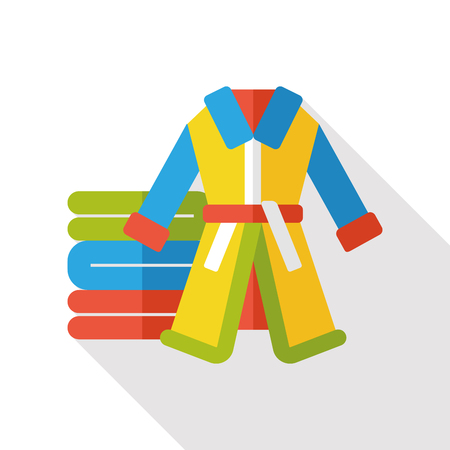bathrobes: Bathrobes clothes flat icon Illustration