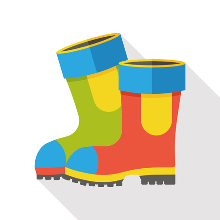 Rain boots flat icon