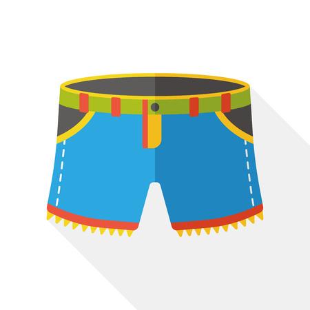 sport wear: wearing pants flat icon