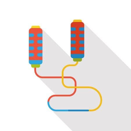long jump: skipping-rope flat icon