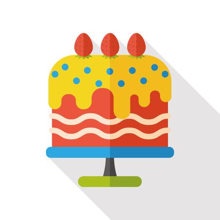food: food cake flat icon