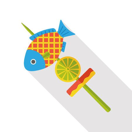harpoon: Fish spear flat icon