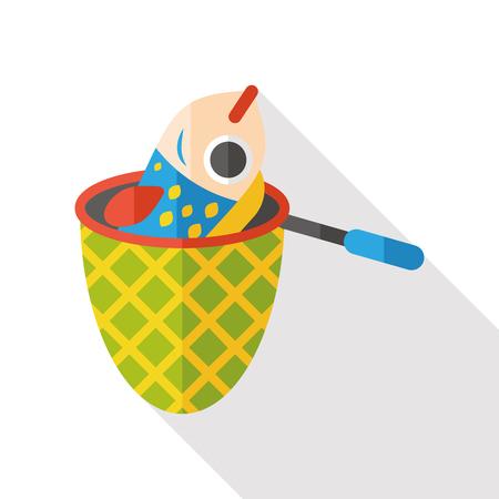 net: fishing net flat icon Illustration