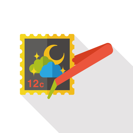 collect: collect stamp flat icon