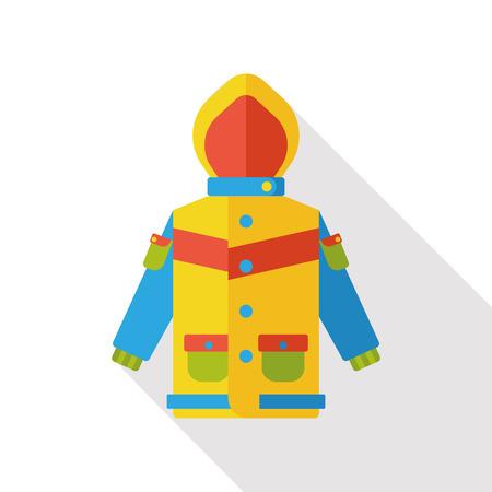 spring coat: clothes raincoat flat icon