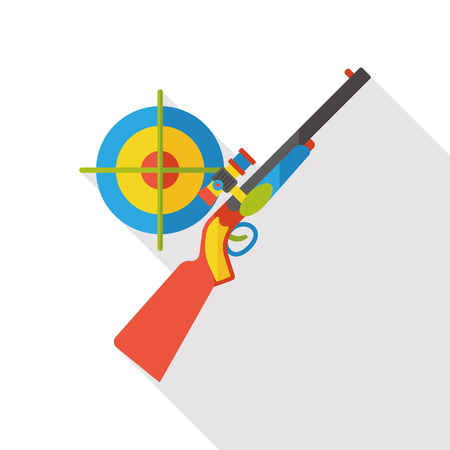 space wars: Gun target flat icon