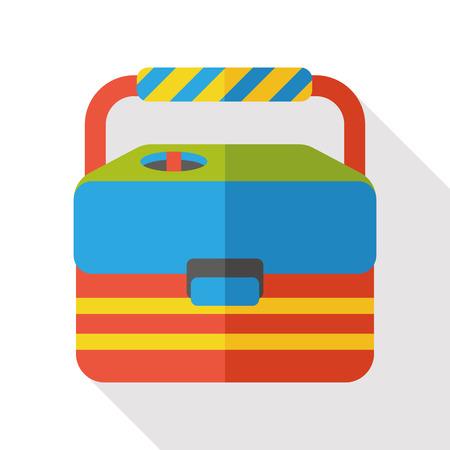 bait box: fishing box flat icon