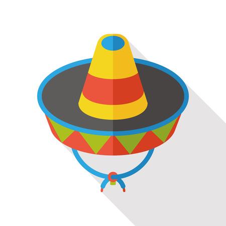 wearing: wearing hat flat icon