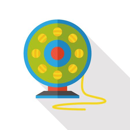 water sport: Fishing line flat icon