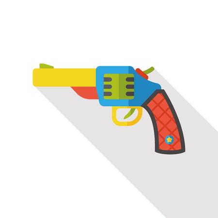 hand gun: weapon gun flat icon