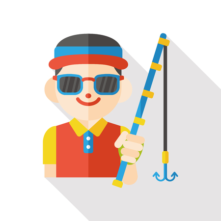 water gun: fishing fisherman flat icon