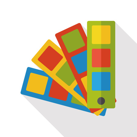 color selection: color card flat icon Illustration