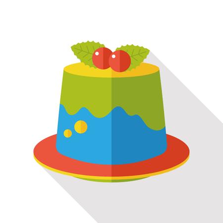 pudding: dessert pudding flat icon Illustration