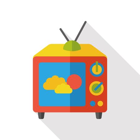 flat screen: screen tv flat icon Illustration