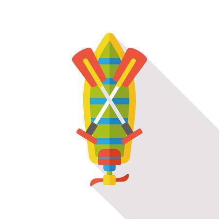 canoe: Canoe boat flat icon Illustration