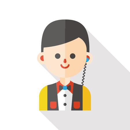 casino dealer: Casino Dealer flat icon