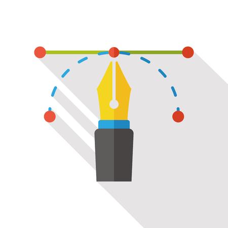 write: write pen flat icon