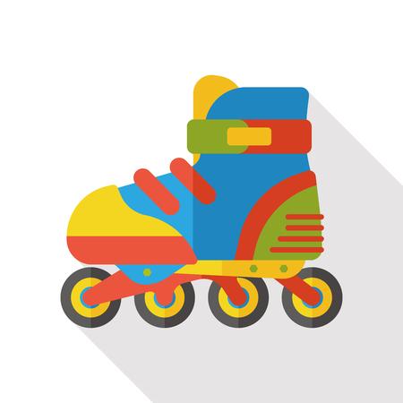 skating fun: roller skate flat icon