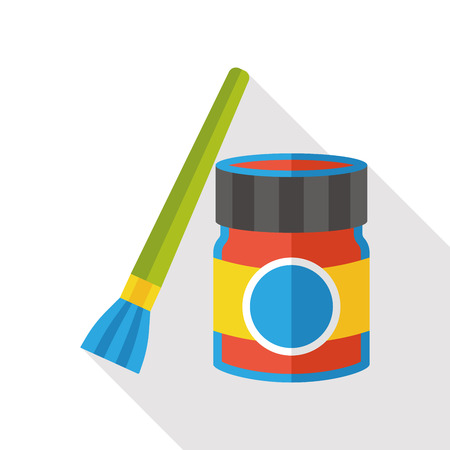 pigment: paint brush and pigment flat icon