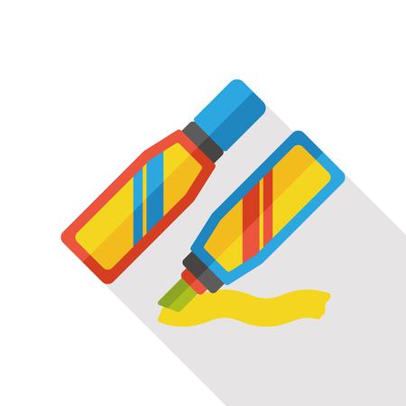 write: paint marker flat icon