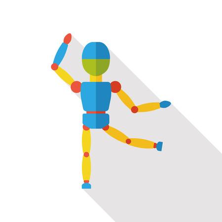 obedecer: marioneta muñeca icono plana Vectores