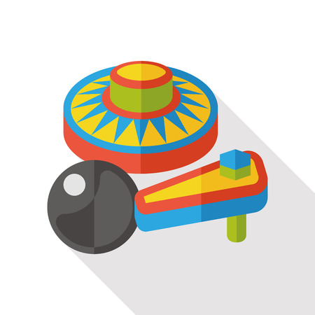 pinball: Pinball game flat icon