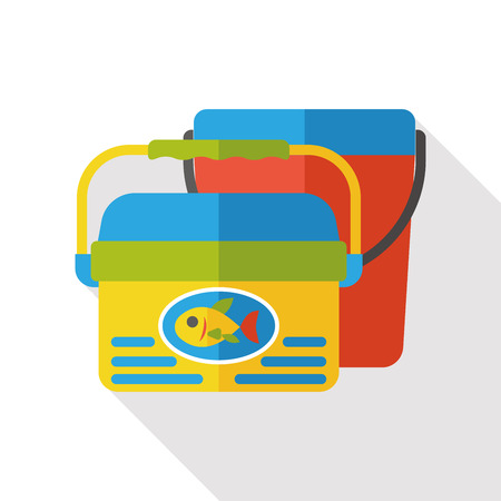 fishing box flat icon