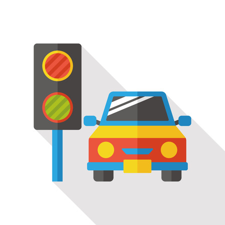 Traffic lights flat icon